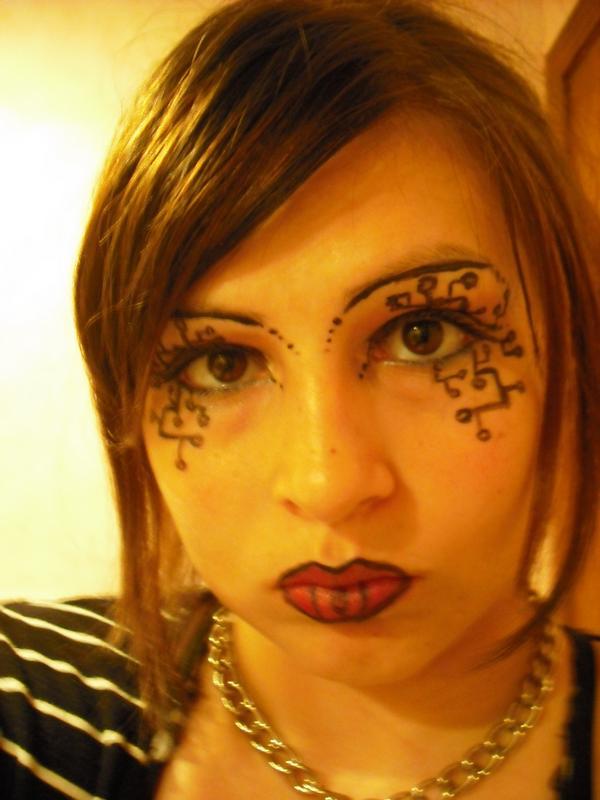 Goofy cyber makeup